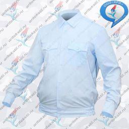 7cf9c2a01cc5 Рубашка ПОЛИЦИЯ серо-голубая с длинным рукавом на резинке
