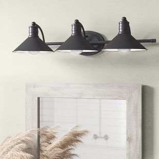 Three Bulb Vanity Light Bathroom Lighting Modern Vanity Light