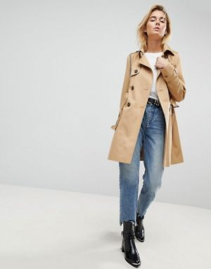 581a03fa91 ASOS DESIGN classic trench coat. Old version with sleeker pockets is $61  code: 919864