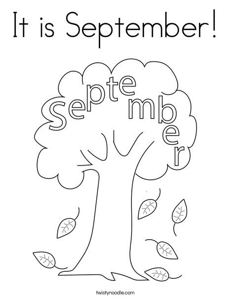 It Is September Coloring Page Twisty Noodle Fall Coloring Pages Coloring Pages September Colors