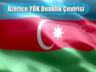 Azerice Yok Denklik Cevirisi Azerice Turkce