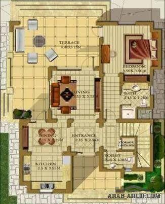سابينا فلل صغيرة في الجونة واجهه خرائط 156 متر مربع Floor Plans Design Diagram