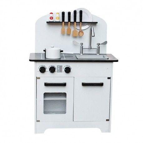 Drewniana Kuchnia Dla Dzieci Deluxe White Kitchen Sets For Kids Play Kitchen Wooden Toy Kitchen