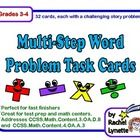 Each of these 32 Math Challenge Task Cards has a different multi-step math story problem. Students will use all four operations as they solve the p...
