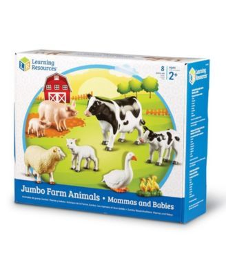 Learning Resources Jumbo Farm Animals Mommas And Babies Toy Set