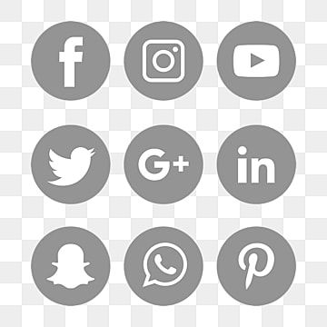 Social Media Icons Set Logo Vector Illustrator Social Icons Logo Icons Media Icons Png And Vector With Transparent Background For Free Download In 2021 Social Icons Social Media Icons Social Media Logos