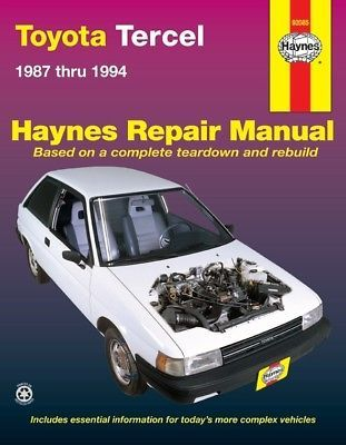 Advertisement Ebay Repair Manual Dlx Haynes 92085 Fits 87 89 Toyota Tercel Pontiac Firebird Repair Manuals Ford Probe