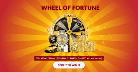 The Wheel of Fortune is a rewarding Free Game at FreeBitcoin that is EMAIL EXCLUSIVE. Head over to your registered email ID and spin the wheel now! #FreeBitcoin #Bitcoin #BTC #WheelOfFortune #Rolex #Lambo
