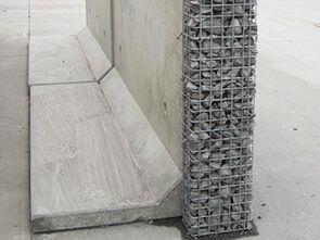 Hybrid Gabion Retaining Wall Concrete Retaining Walls Precast Concrete Retaining Wall