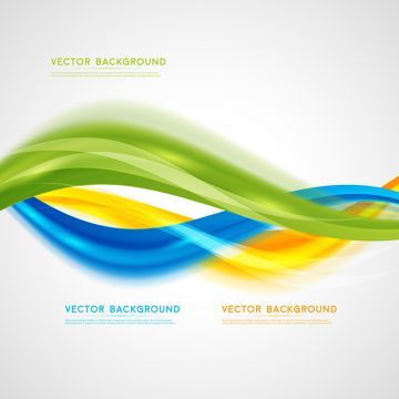Vector Abstract Background Design Wavy Brochure Banner Technical