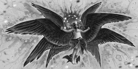 The Seraphim By Celticbotan On Deviantart Angels And Demons Seraphim Four Archangels