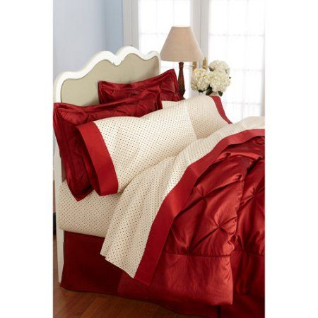 Better Homes And Gardens 250 Thread Count Percale Sheet Set, Red