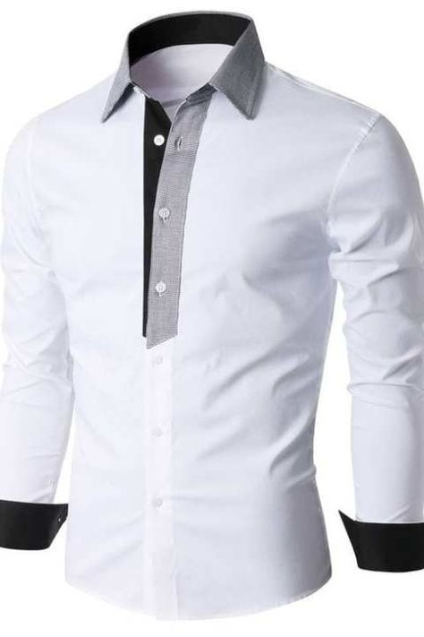 This post may contain affiliate links. The men's shirt pattern free is for a classic shirt. It has a collar and full-length button opening at the front. Button down shirts are timeless and versatile. You can get a formal or casual … Read Umgestaltete Shirts, Sewing Shirts, Mens Shirt Pattern, Shirt Patterns, Casual Shirts For Men, Men Casual, Smart Casual, Chemise Fashion, Mens Designer Shirts