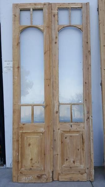 Pair Of Wooden And Glass French Doors Dimensions Are 100 High X 40 Wide Interiordoors Glass French Doors Wood Doors Interior French Doors Interior