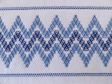 Tea Towel Dish Towel Swedish Weaving Blue by SnowboundMe on Etsy, 18.00