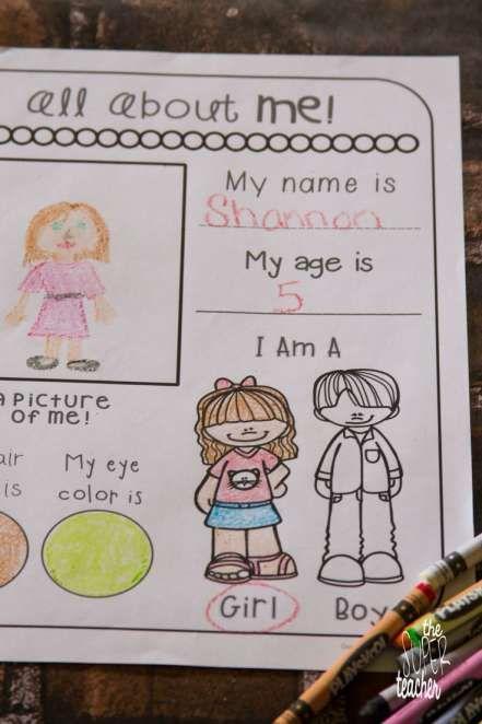 Worksheet On Myself For Kindergarten And All About Me Worksheets All About Me Worksheet All Preschool Worksheets All About Me Preschool About Me Activities Myself kindergarten worksheets