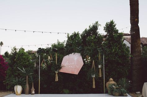 Cosmic Details And Plant Love Rule This Korakia Palm Springs Wedding Spring Wedding Destinations Palm Springs Green Wedding Shoes