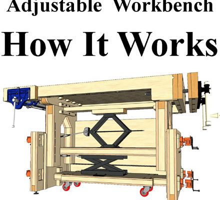 How The Adjustable Height Workbench Works Workbench Workbench