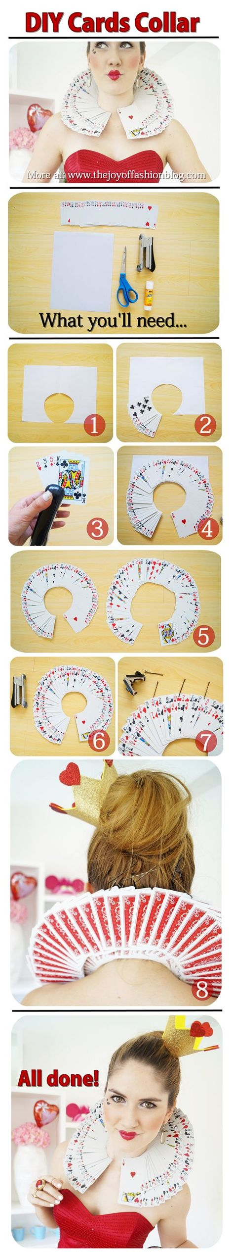 Queen of Hearts Card Collar Tutorial http://geekxgirls.com/article.php?ID=3019