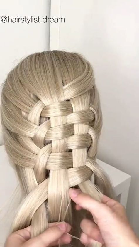 Easy zipper braid💓 #hairstyle #hair #hairstylist #engaged #gettingmarried