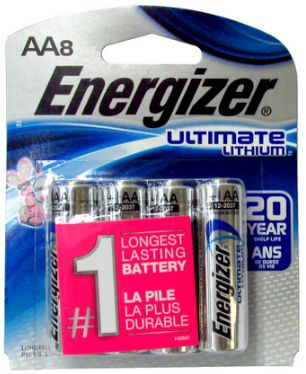 Energizer L91 Aa Ultimate Lithium Battery 8 Pack Battery 9 Volt Battery Energizer
