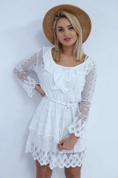 efb1a21d SUKIENKA LILANA WHITE - Sprzedaż odzieży online dla kobiet, sukienki ...