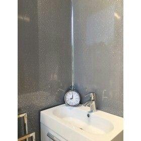 Grey Sparkle 5mm Bathroom Wall Panel Bathroom Wall Panels Wall Paneling Bathroom