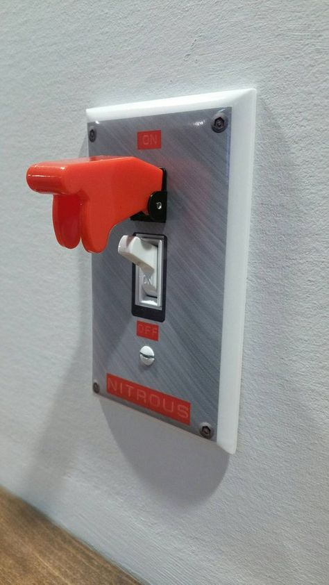 NITROUS Light Switch with Toggle Wall Plate Cover NOS gag gift single gang m. NITROUS Light Switch with Toggle Wall Plate Cover NOS gag gift single gang mancave garage b Automotive Furniture, Automotive Decor, Diy Furniture, Automotive Carpet, Man Cave Furniture, Automotive Group, Handmade Furniture, Automotive Upholstery, Garage Furniture