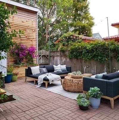 Urba Slate Gray Sectional Garden Furniture Design Outdoor Decor