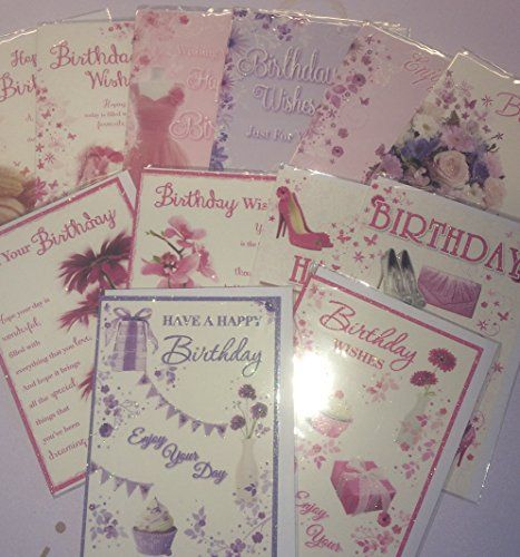 12 Pack of Traditional Birthday Cards bgc studios – Packs of Birthday Cards