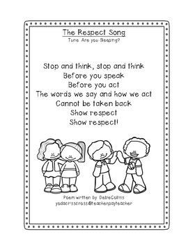Think Before You Speak Respect Poem Coloring Page Teacher Poems