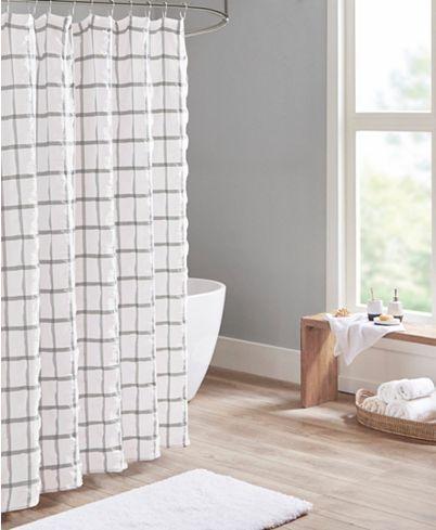 Madison Park Kinney Printed Seersucker Shower Curtain Reviews