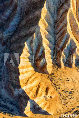 Spain Navarre Aerial View Of Rock Formations Of Bardenas Reales Badlands Ad Aerial View Spain Navarre Rock In 2020 Aerial View Badlands Rock Formations
