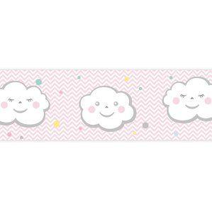 Kinderzimmer Bordure Wolkenkinder Rosa Selbstklebend Kinder Zimmer Kinderzimmer Wolken