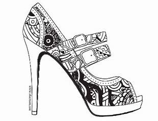 Image Result For Adults Color Page Online Printable Stilettos Shoe