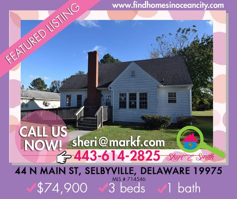 Featured Listing: 44 N Main St, Selbyville, Delaware 19975