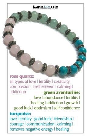 Green Aventurine and  Rose Quartz Heart Chakra Hippie BraceletYoga BraceletBoho Bracelet