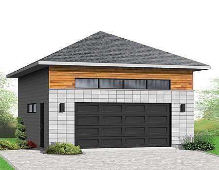 Plan 22372dr Detached 2 Car Garagewith Hip Roof In 2021 Garage Plans Hip Roof Garage Apartments