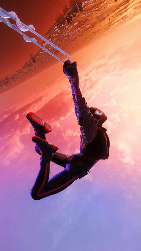 Spiderman Miles Morales Jump - IPhone Wallpapers