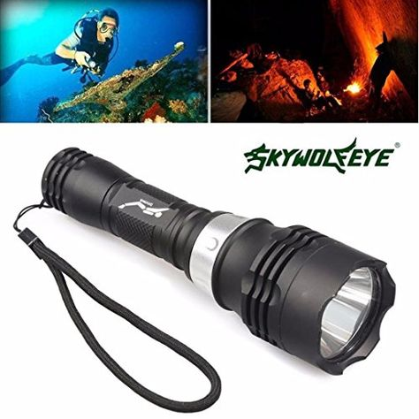Charger UK Diving T6 LED 60M Scuba 18650 Flashlight Underwater Lamp Torch Light