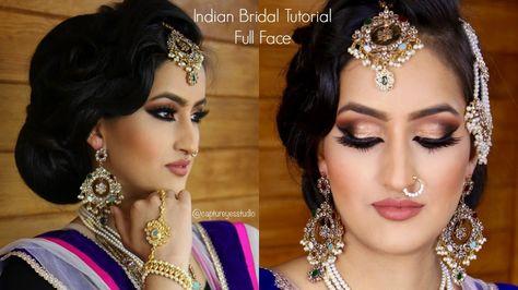 Indian Bridal Makeup Tutorial Full Face | Gurp Dhaliwal | Captur Eyes St..