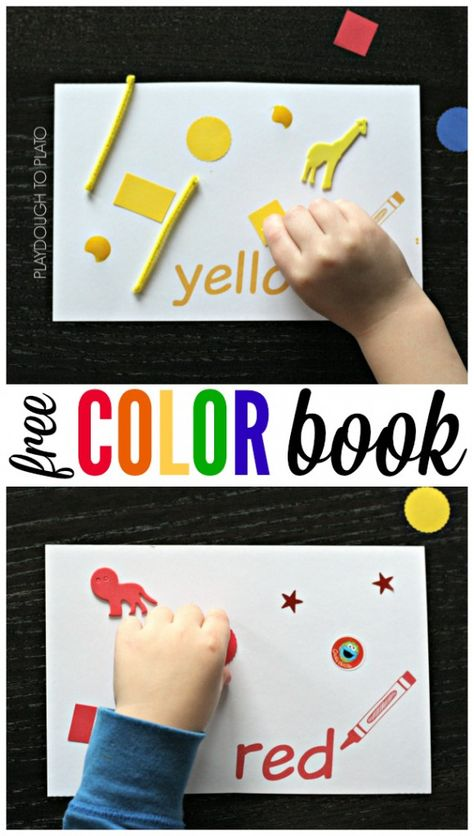 Free Color Book for Kids. Such a fun way to practice colors!!