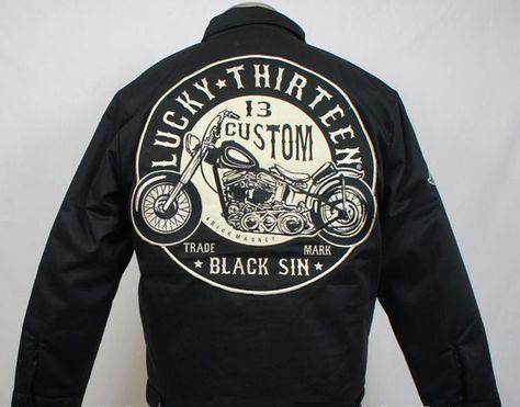 Lucky 13 Black Sin Men's Lined Jacket