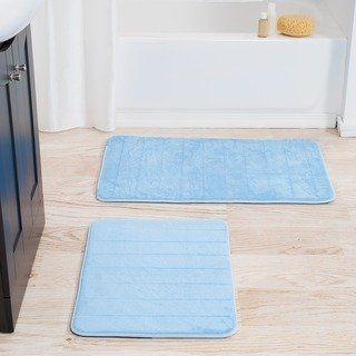 Windsor Home 2 Piece Memory Foam Bath Mat Set Bath Mat Sets