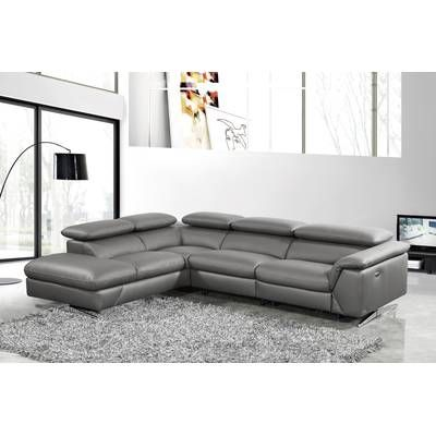 Westall Leather Right Hand Facing Reclining Sectional Leather