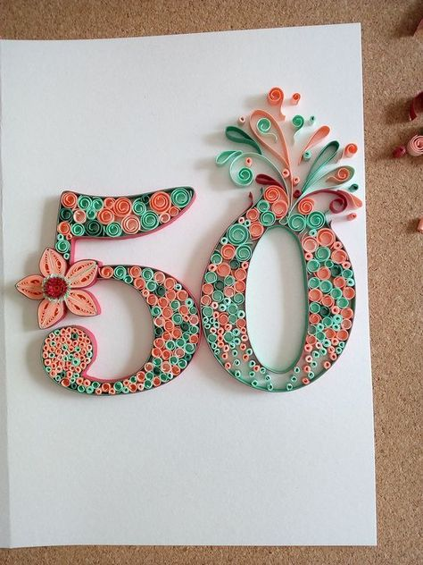 quilling card birthday 50 of my own inspiration  #birthday #card #Inspiration #quilling