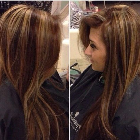 Chocolate brown with gold highlights ❤️❤️❤️