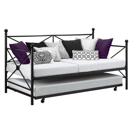 Home Metal Daybed Metal Daybed With Trundle Black Daybed