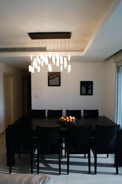 Elegant Modern Dining Room Chandeliers Modern Rectangular Modern