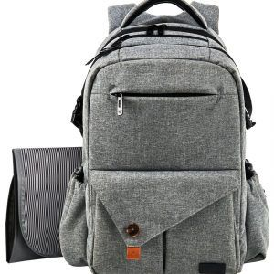 Multifunction Large Travel Backpack with Stroller Straps for Mom /& Dad Hafmall Baby Diaper Bag